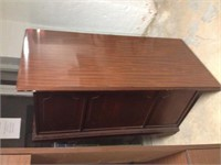 Cherry Finish Desk w/ Glass Topper, $35.00 Reserve