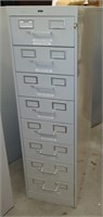 Tennsco 8-Drawer Metal Cabinet, $30.00 Reserve
