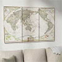 WORLD MAP ON 3PC CANVAS (NO SIZE)