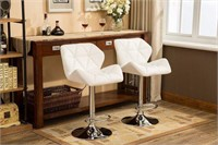 ROUNDHILL PU BARSTOOLS (2 IN TOTAL; NOT ASSEMBLED)