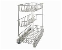 CLOSETMAID 3 TIER KITCHEN CABINET PULL OUT BASKET