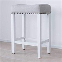 COUNTER HEIGHT UPHOLSTERED STOOL(NOT ASSEMBLED)