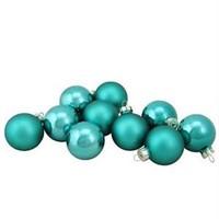NORTHLIGHT 10-PIECE GLASS BALL CHRISTMAS ORNAMENT