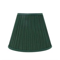 DARBY HOME 2-PIECE PLEATED LINEN EMPIRE LAMP SHADE