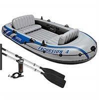 INTEX EXCURSION 4 INFLATABLE BOAT SET