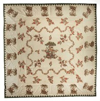 Chintz applique quilt top (c.1820) with South Carolina history, MESDA deaccession