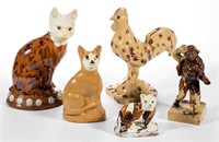 Selection of over 100 English ceramic figures, money boxes, and whistles, property deaccessioned by the Colonial Williamsburg Foundation, Williamsburg, VA, with all proceeds to benefit the Collections and Acquisition Funds, many examples ex-collection of C. B. Kidd