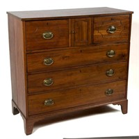 Virginia, probably Mecklenburg Co., walnut chest of drawers (c.1795), original feet and blocking