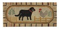 American folk art hooked rug (c.1920), one of several