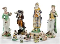 Selection of over 100 English ceramic figures, property deaccessioned by the Colonial Williamsburg Foundation, Williamsburg, VA, with all proceeds to benefit the Collections and Acquisition Funds, many examples ex-collection of C. B. Kidd