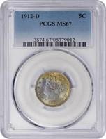 5C 1912-D PCGS MS67