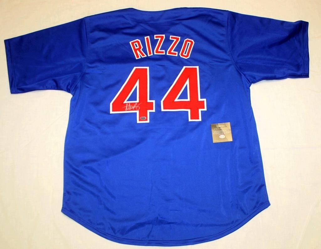 sneakers for cheap 82b28 89ff3 A. Rizzo #44 Autographed Jersey | Linnebur Auctions, Inc.