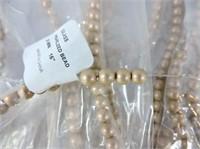 German Glass Metallic Blush Beads