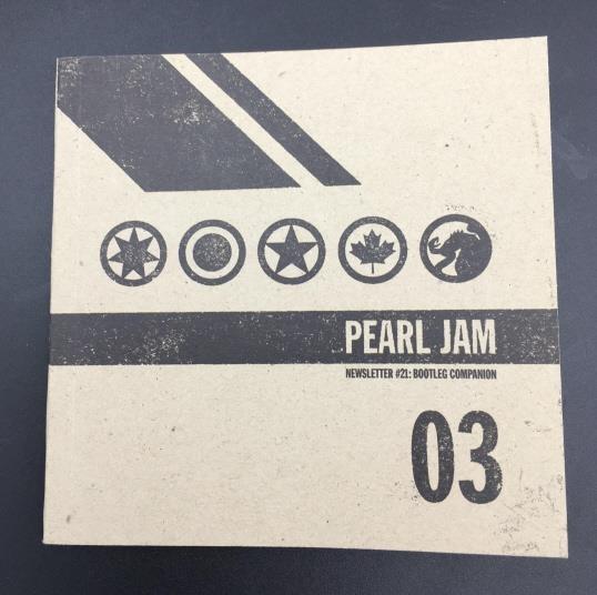 Pearl Jam Newsletter #21 Bootleg Companion | 345 Auction