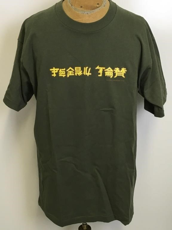 35130e281675a Pearl Jam T-Shirt Chinese Writing - Men's XL | 345 Auction