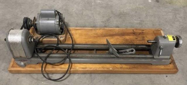 Cool Craftsman Bench Top Wood Lathe Kraft Auction Service Machost Co Dining Chair Design Ideas Machostcouk