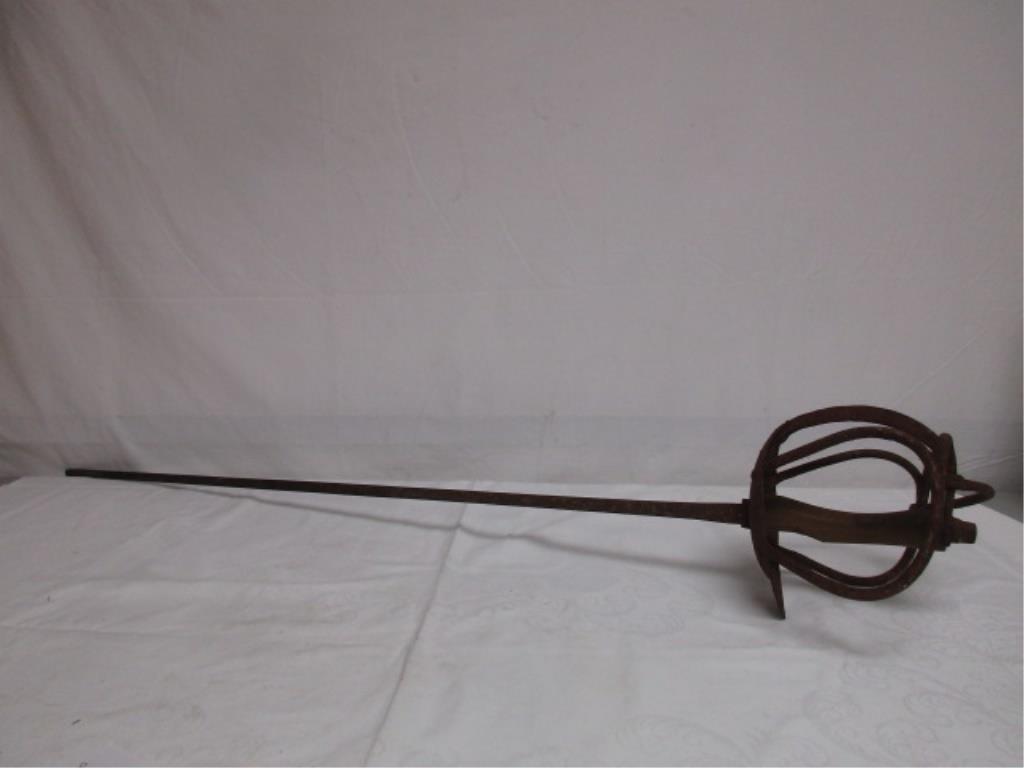 Antique Hand Forged Fencing Rapier Foil