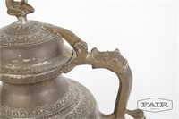 Replica of antique Arabic calligraphy tea pot