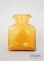 Yellow glass pitcher/vessel