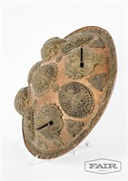Copper/brass ceremonial shield from Thailand