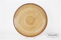 Large circular pottery dish by Carol Stern, Stein?