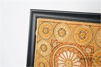 Antique embroidered Indian fabric, recently framed