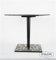 Black and white optical illusion side table