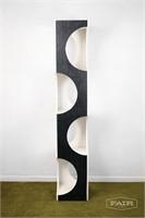 Unique painted wooden shelf unit by Ann Williams