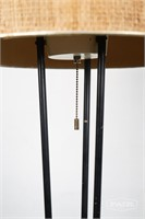 Vintage 3 rod metal floor lamp