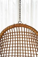 Hanging rattan swing chair