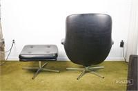 Selig Egg Chair with chrome base and ottoman
