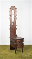 Antique carved spinning chair