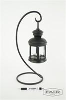 Metal hanging candle lantern