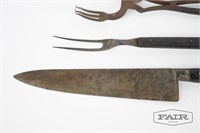 Antique metal kitchen utensils