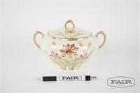 Royal Munich hand painted porcelain jar with lid
