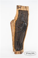 Two-sided wooden carving by the Makonde tribe