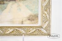 Framed hand tinted photo signed Higgins
