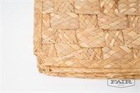 2 sets of woven placemats