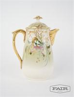 Limoges France Painted porcelain tea/coffee pot