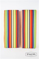 MCM colorful striped pillows or bench cushions