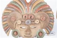 Clay Aztec gods wall mounts