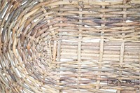 Old basket made from small twigs