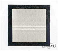 Black and white square painting by Ann Williams