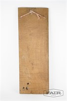 Carved rustic wooden wall hanging
