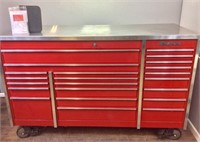 """Snap-on 72"""" 22-drawer Steel Top Roll Cab"""