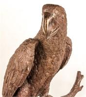 Phillips Bronze Macaw Parrot Sculpture