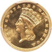 G$1 1887 PCGS MS68 CAC