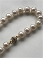 Swarovski Crystal White Pearl Necklace