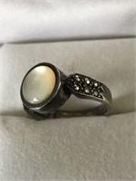 Vintage Sterling Moonstone Gem Ring