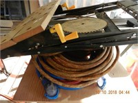 LOT HEAVY DUTY EXTENSION CORDS AIR HOSE / MISC